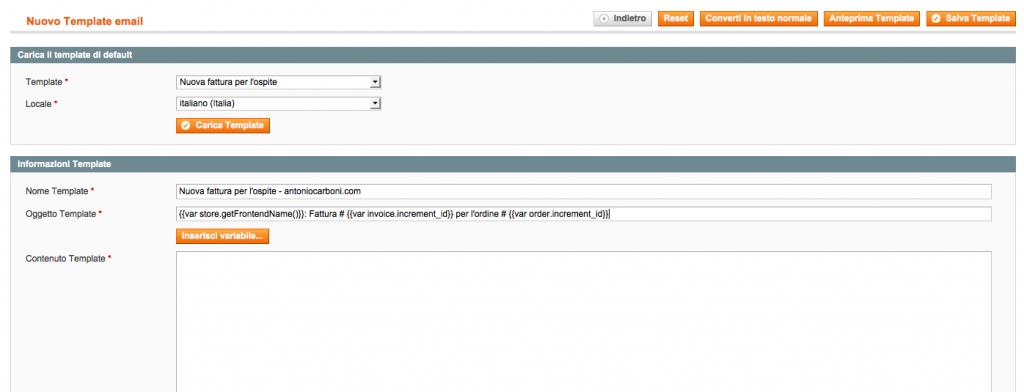 creazione email transazionale personalizzata nel backend